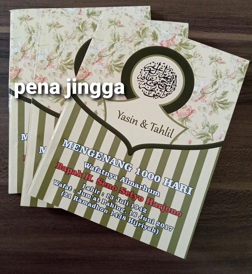 Cetak Buku Yasin & Tahlil